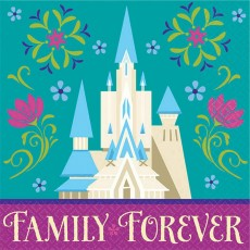 Disney Frozen Family Forever Beverage Napkins 25cm x 25cm Pack of 16