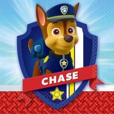 Paw Patrol Chase Beverage Napkins 25cm x 25cm Pack of 16