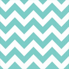 Chevron Design Robin's Egg Blue  Beverage Napkins