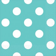 Dots Robin's Egg Blue with White Beverage Napkins