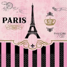 Day in Paris Party Supplies - Beverage Napkins