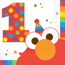 Elmo Turns One Beverage Napkins