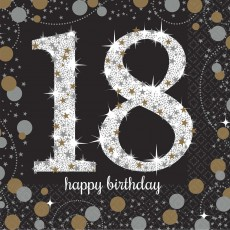 18th Birthday Sparkling Celebration Beverage Napkins