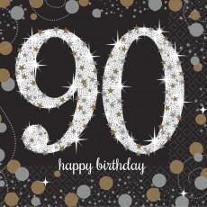 90th Birthday Sparkling Celebration Beverage Napkins