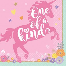 Magical Unicorn One of a Kind Beverage Napkins Pack of 16