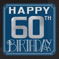 60th Birthday Happy Birthday Man Beverage Napkins