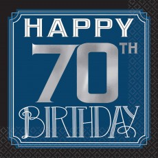 Happy Birthday Man Happy 70th Birthday Beverage Napkins Pack of 16