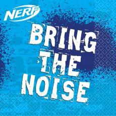Nerf Bring the Noise Beverage Napkins 25cm x 25cm Pack of 16