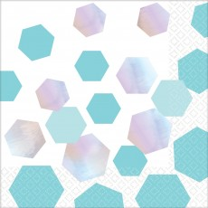 Iridescent Shimmering Party Beverage Napkins Pack of 16