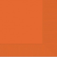 Orange Beverage Napkins 25cm x 25cm Pack of 20