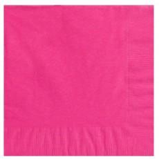Bright Pink Beverage Napkins 25cm x 25cm Pack of 20
