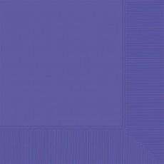 New Purple Beverage Napkins 25cm x 25cm Pack of 20