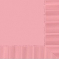 New Pink Beverage Napkins 25cm x 25cm Pack of 20