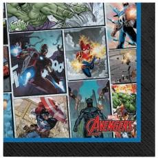 Avengers Party Supplies - Beverage Napkins Marvel Powers Unite