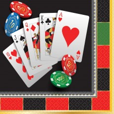 Casino Party Decorations Roll The Dice Beverage Napkins