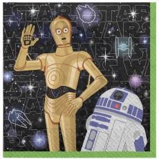 Star Wars Party Supplies - Beverage Napkins Galaxy