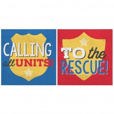 First Responders Party Supplies - Beverage Napkins