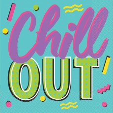 Awesome 80's Chill Out Beverage Napkins Pack of 16