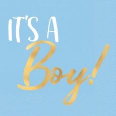 Baby Shower - General Hot Stamped It's a Boy! Beverage Napkins Pack of 16