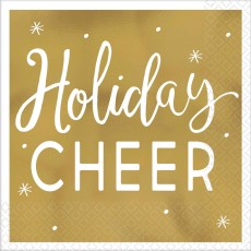 Christmas Party Supplies - Beverage Napkins Hot Stamped