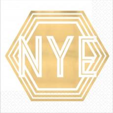 New Year NYE Beverage Napkins 25cm x 25cm Pack of 16