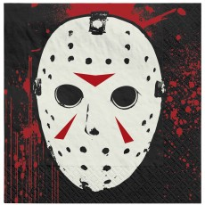 Halloween Friday the 13th Beverage Napkins Pack of 16
