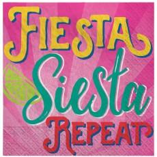 Mexican Fiesta Fiesta Siesta Repeat Beverage Napkins Pack of 16