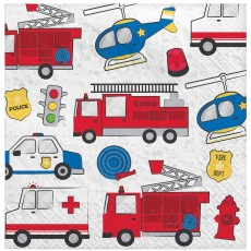 First Responders Party Supplies - Lunch Napkins