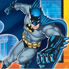 Batman Lunch Napkins 33cm x 33cm Pack of 16