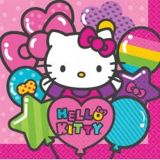 Hello Kitty Rainbow Lunch Napkins 33cm x 33cm Pack of 16