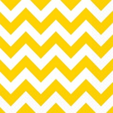 Chevron Design Sunshine Yellow  Lunch Napkins