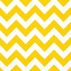 Sunshine Yellow Chevron Design Lunch Napkins 33cm x 33cm Pack of 16