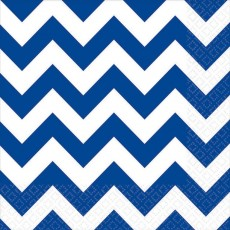 Chevron Design Bright Royal Blue  Lunch Napkins