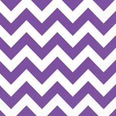 Chevron Design New Purple  Lunch Napkins