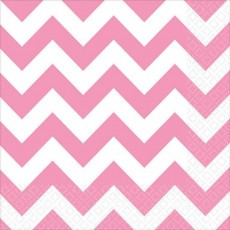 Chevron Design New Pink  Lunch Napkins