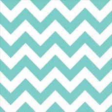 Chevron Design Robin's Egg Blue  Lunch Napkins