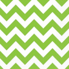 Chevron Design Kiwi Green  Lunch Napkins
