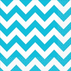 Chevron Design Caribbean Blue  Lunch Napkins
