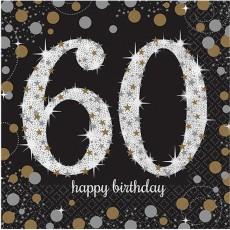 60th Birthday Sparkling Celebration Lunch Napkins