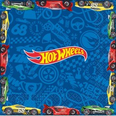 Hot Wheels Wild Racer Lunch Napkins 33cm x 33cm Pack of 16
