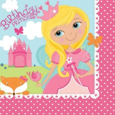 Woodland Princess Lunch Napkins