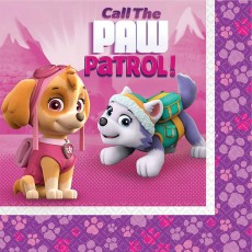 Paw Patrol Girl Call the Paw Patrol! Lunch Napkins 33cm x 33cm Pack of 16
