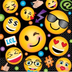 Emoji LOL Smiley Faces Lunch Napkins
