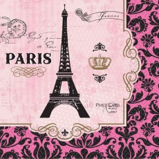 Day in Paris Party Supplies - Lunch Napkins