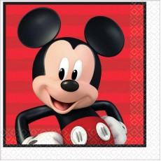 Mickey Mouse On The Go Lunch Napkins 33cm x 33cm Pack of 16