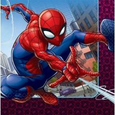 Spider-Man Webbed Wonder Lunch Napkins 33cm x 33cm Pack of 16