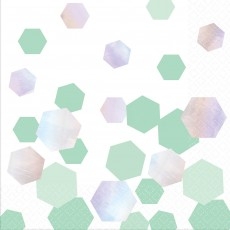 Iridescent Shimmering Party Lunch Napkins 33cm x 33cm Pack of 16
