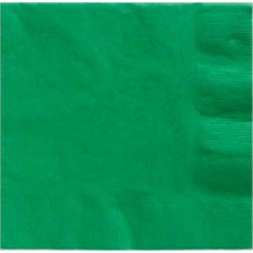 Festive Green Lunch Napkins 33cm x 33cm Pack of 20