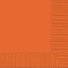 Orange Lunch Napkins 33cm x 33cm Pack of 20