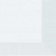 Frosty White Lunch Napkins 33cm x 33cm Pack of 20